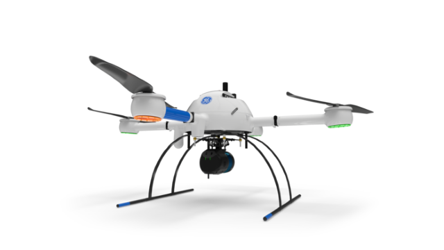 GE industrial drone line mdLIDAR1000LR/ Image: Microdrones, all rights reserved