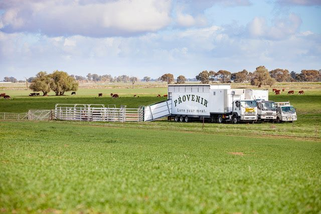 Provenir's mobile slaughterhouse/Image credit: Beef Central
